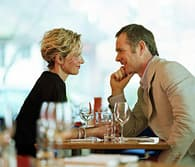 couple out at restaurant