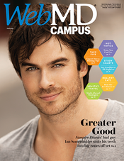 Ian Somerhalder in WebMD Campus Magazine