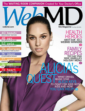 Alicia Keys in WebMD Magazine