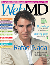 Rafael Nadal in WebMD Magazine