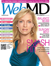 Uma Thurman in WebMD Magazine