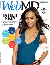 Zoe Saldana in WebMD Magazine