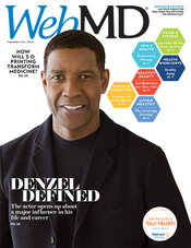 Denzel Washington in WebMD Magazine