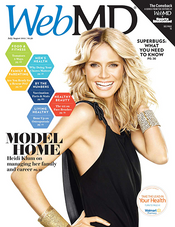Heidi Klum in WebMD Magazine