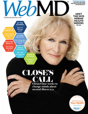 Glenn Close in WebMD Magazine