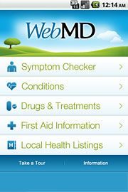 WebMD for Android, iPhone and iPad