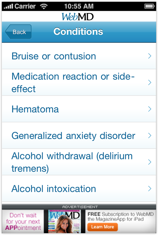 WebMD the Magazine App - Expert Answers Screenshot