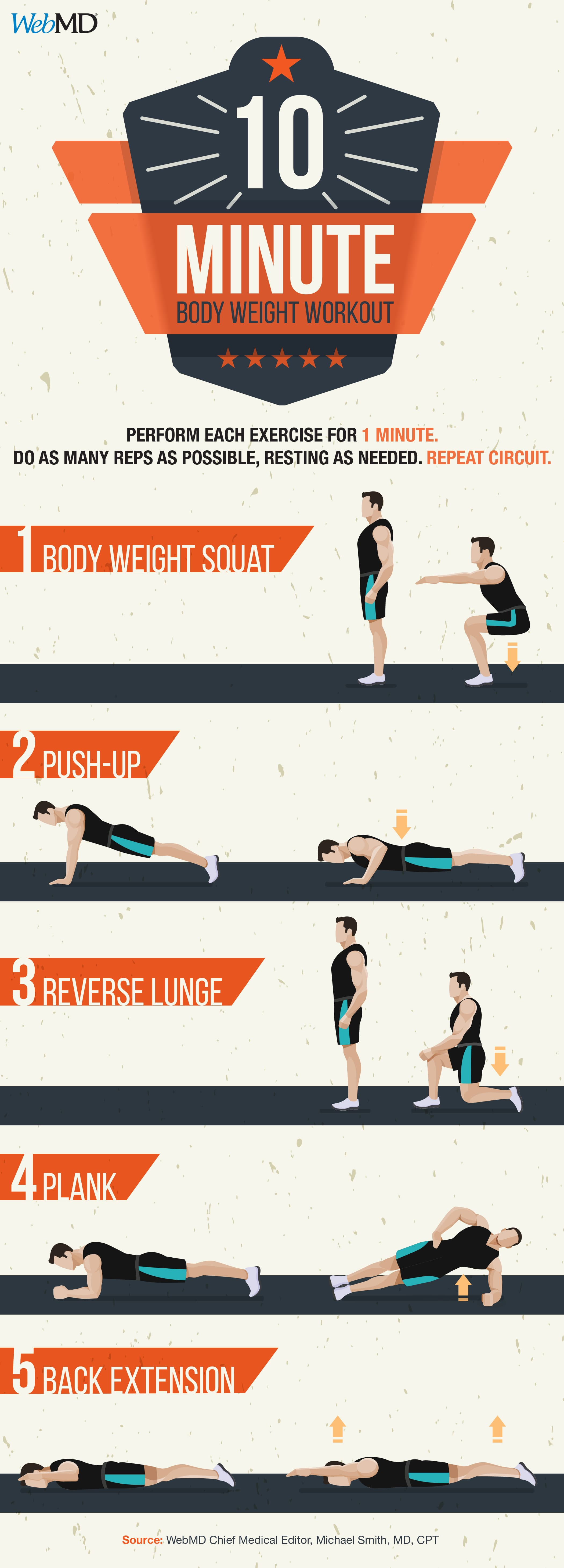 A 10 Minute Workout To Strengthen Your Whole Body Circuit Training Exercises No Equipment