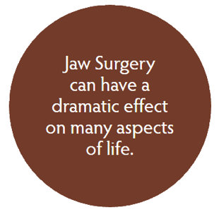 jaw surgery can have a dramatic effect on many aspects of life.