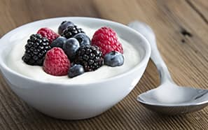 Bowl of yogurt and berries