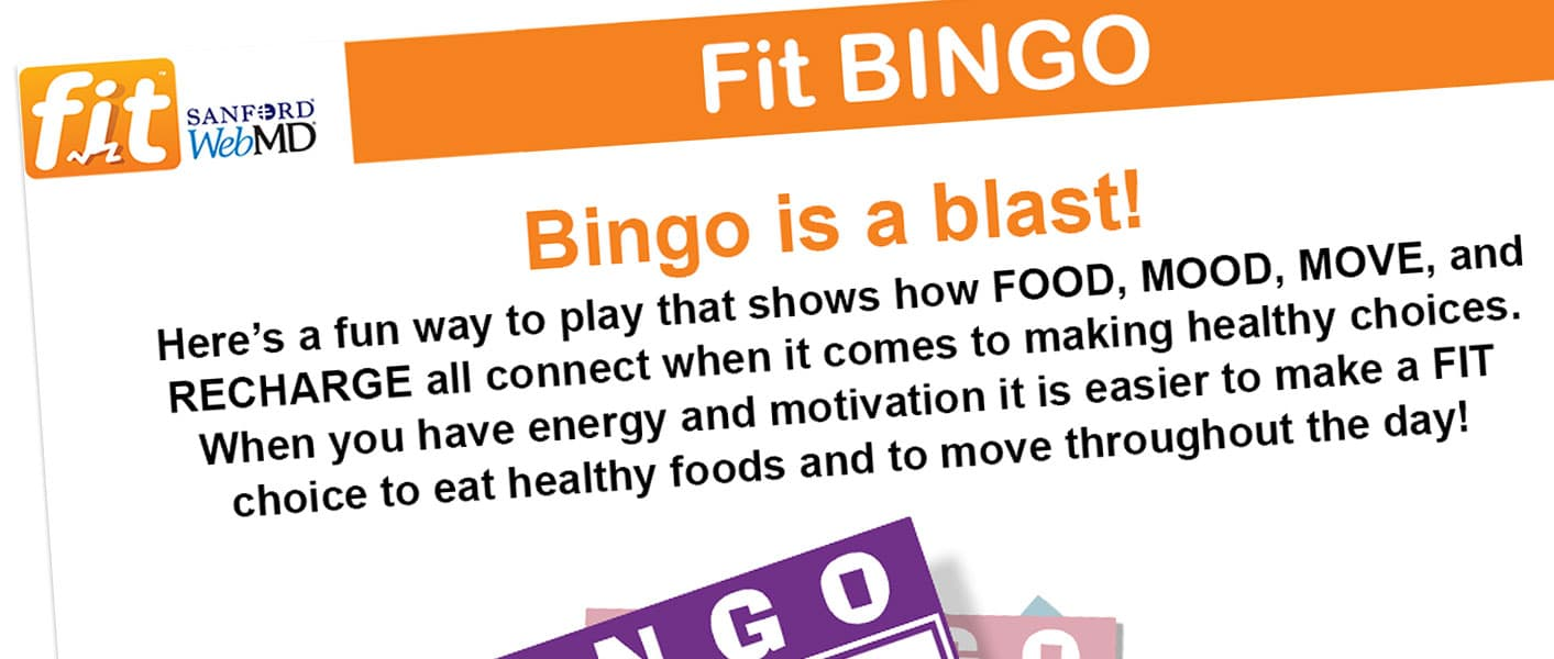 fit kids bingo