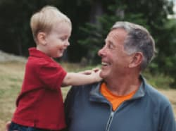 older man with grandchild
