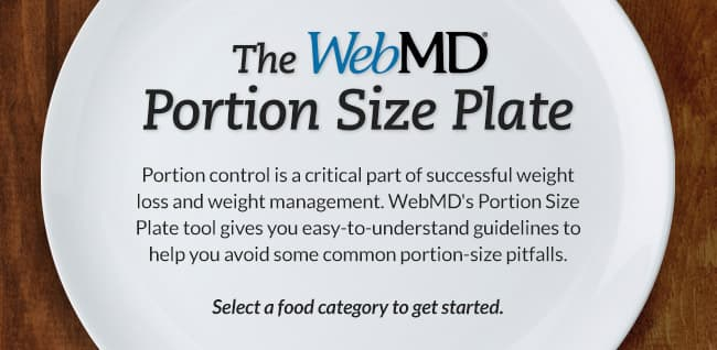 Portion Size Plate | Recommended Serving Sizes for Portion Control